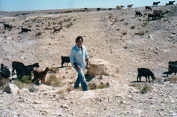Among the goats in Petra