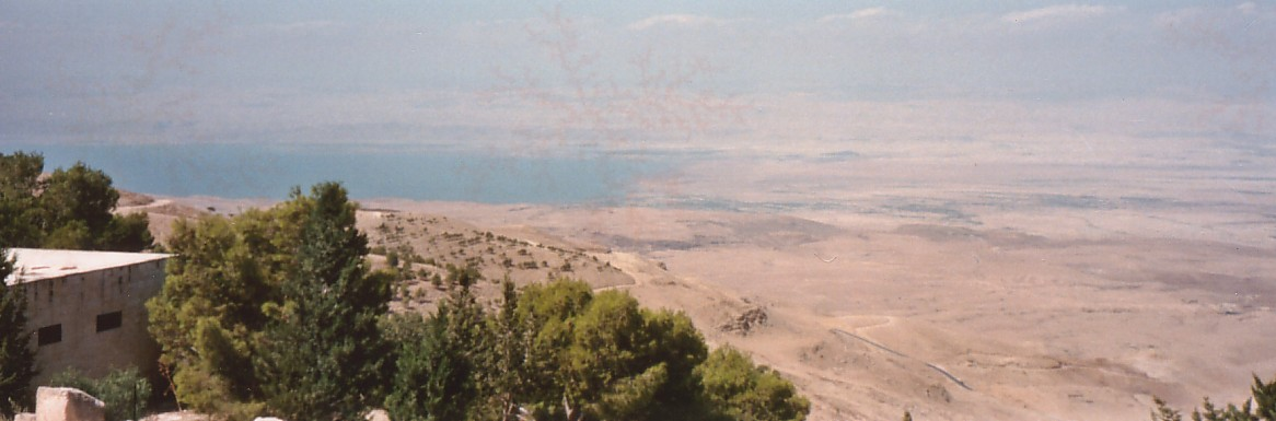 Dead Sea views from Mt Nebo