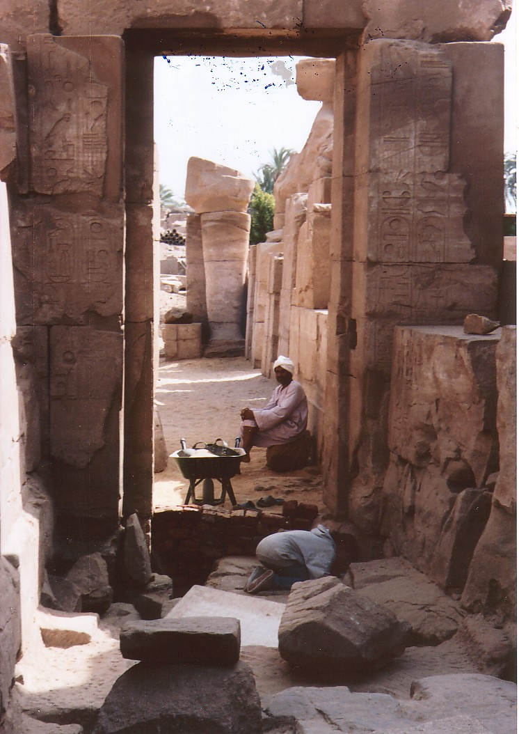 Restoration at Karnak Temple