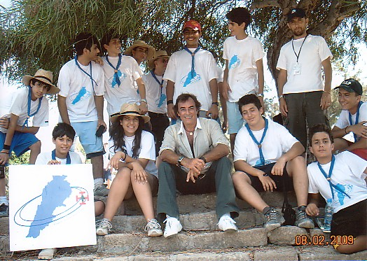 With Scouts - Tyre, Lebanon