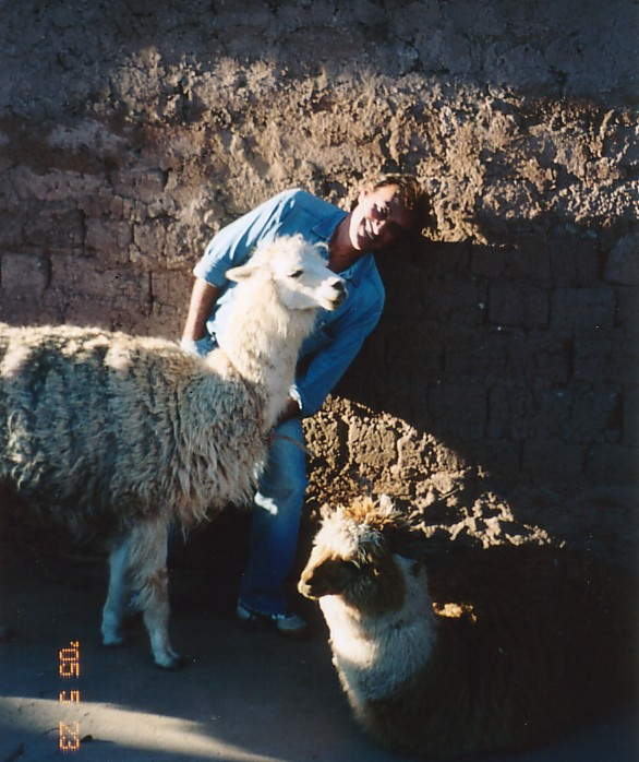 With some beautiful animals - Cusco, Peru